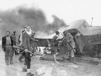 arabs-at-burnt-haganah-supply-truck-the-palmach-archive-via-the-pikiwiki-israel